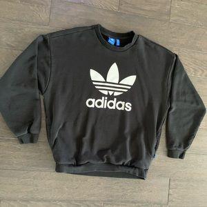 Adidas Pullover Sweatshirt Crew Neck Large Pockets